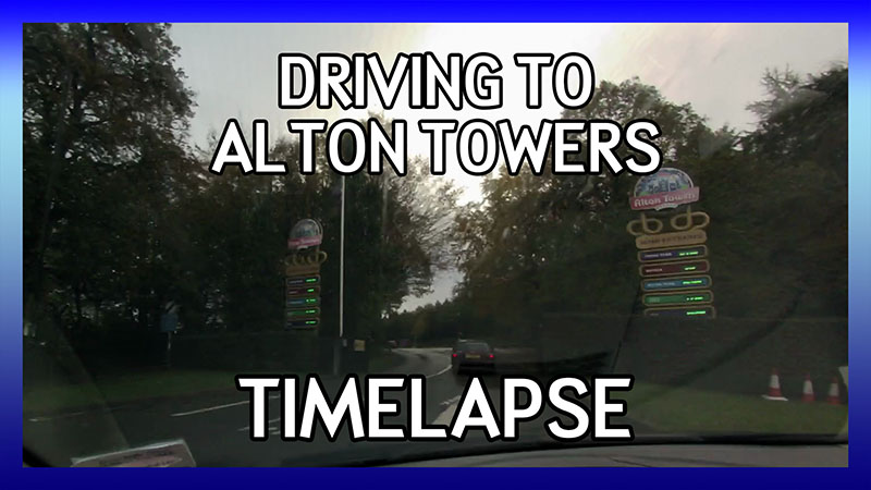 Driving to Alton Towers (GoPro Timelapse) video