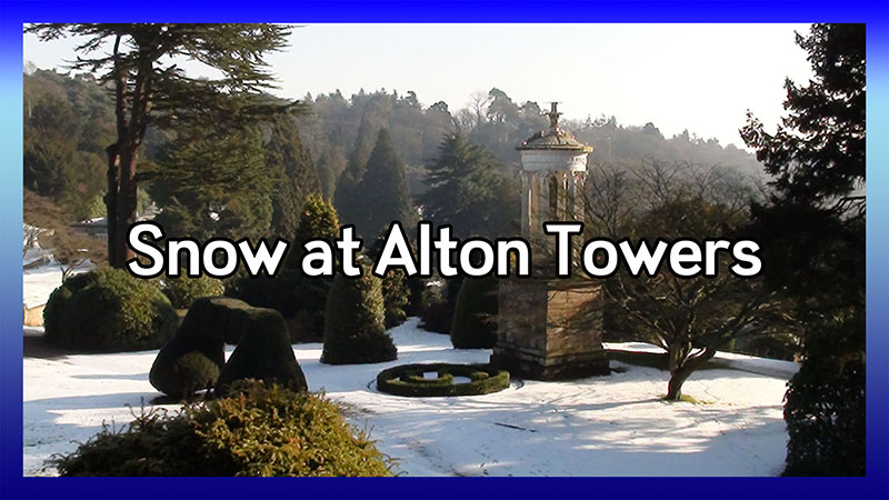 Alton Towers Covered in Snow - Feb 2012 video