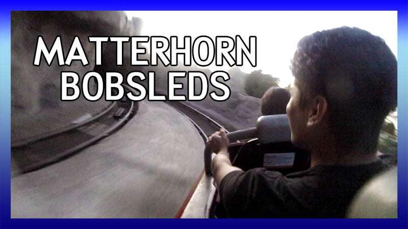Matterhorn Bobsleds (Tomorrowland Track) POV video