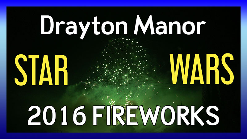 Drayton Manor Fireworks 2016 - Star Wars: The Force Awakens video