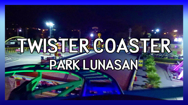 Park Lunasan Twister Coaster POV video