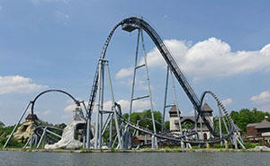 Lech Coaster in its lakeside setting