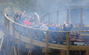 Wicker Man's trains seat up to 24 riders