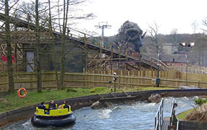Wicker Man as seen from Congo River Rapids