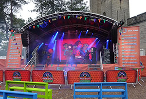 The Freaky Fun Zone Stage next to The Towers