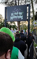 Queuing to enter the House of Monsters