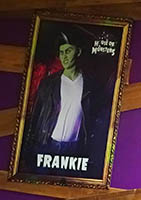 Frankie - one of the characters waiting inside