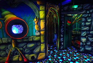 Entrance to the mirror maze