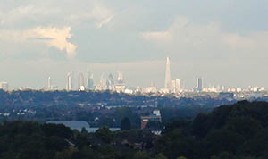 The Shard towers over the City of London
