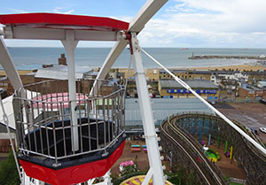 A view out to sea from the top of the Big Wheel