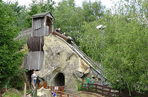 Gulliver's Land's log flume is in the Western World section of the park