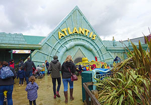 The Atlantis ride building