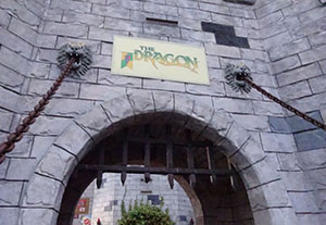 The Dragon is hosted in a giant castle