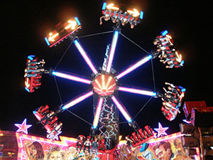 There are plenty of thrills available at Tewkesbury Mop Fair