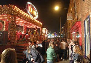 Rides and stalls can be found throughout the centre of the town