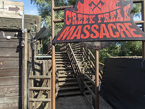 The Creek Freak Massacre sign has been installed