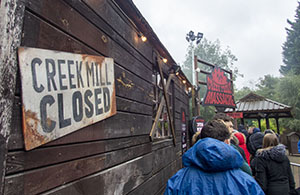 Creek Mill is closed and boarded up