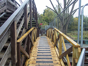 Newly constructed disabled access bridge