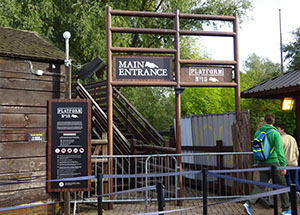 Platform 15's entrance is by the old Loggers Leap bridge