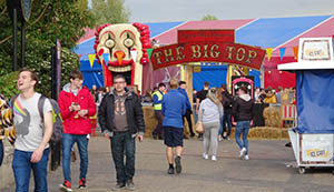 The circus themed entrance to The Big Top