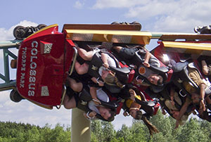 Riders spend a good portion of the ride upside down