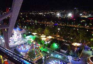 The view over Ankara from the Baskent Günesi wheel
