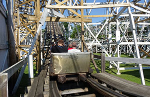 Climbing the lift hill