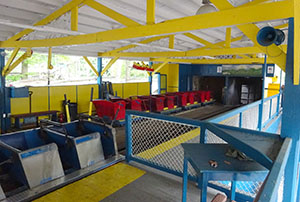 Inside Blue Streak's station