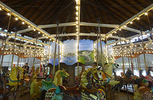 The centre of the carousel features scenes from Conneaut Lake Park's past