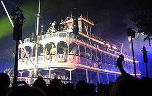 The Mark Twain decked out for a Fantasmic! party