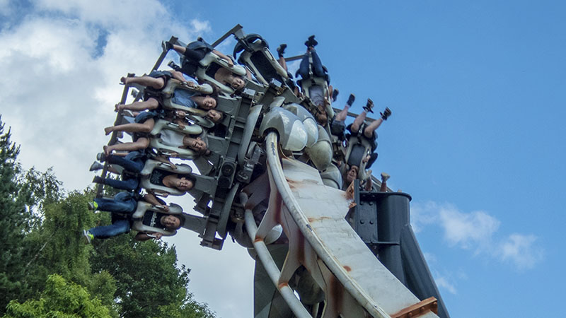 Alton Towers at the height of school trip season